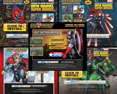 Marvel Landing Pages