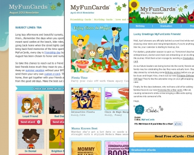Newsletters: MyFunCards