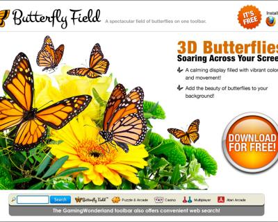 Butterfly Field: Landing Page