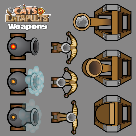 Cats & Catapults - Weapons