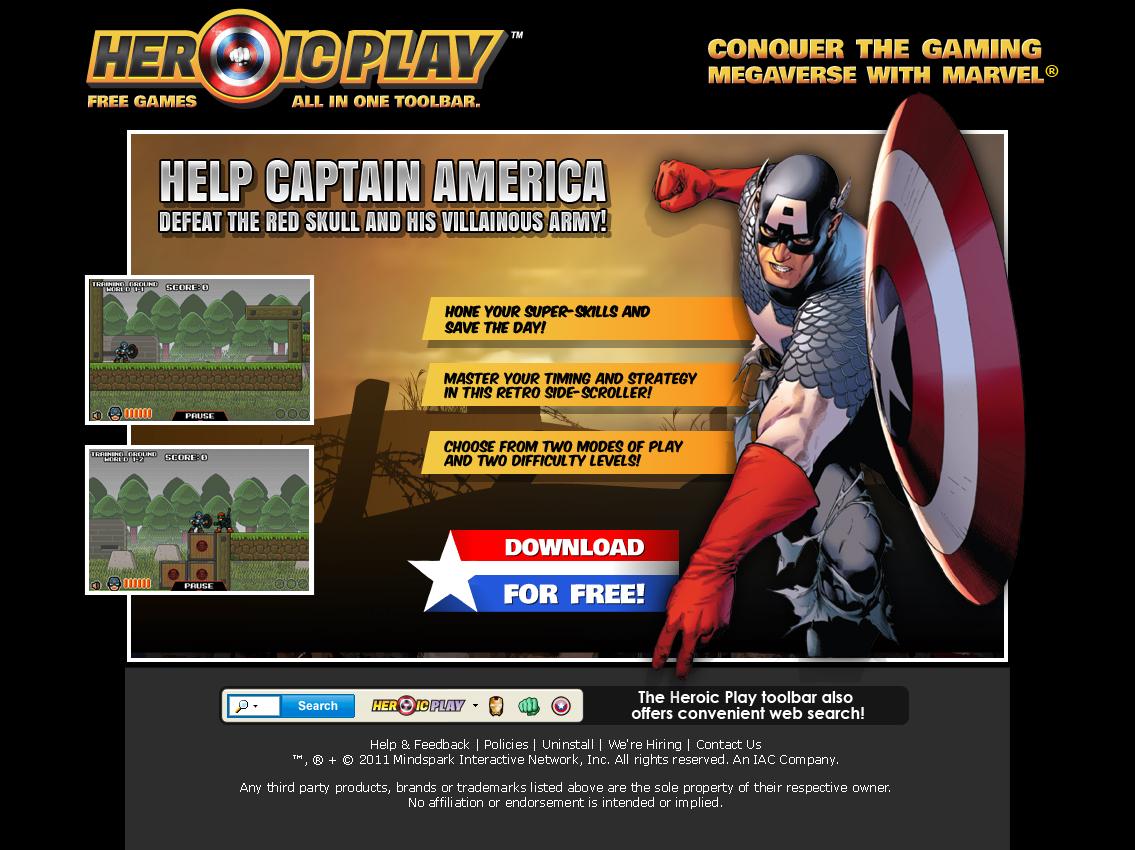 Capt America Landing Page