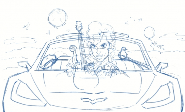 LittleRedCorvette_sketch