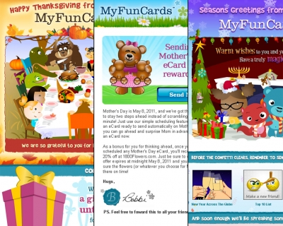Emails: MyFunCards